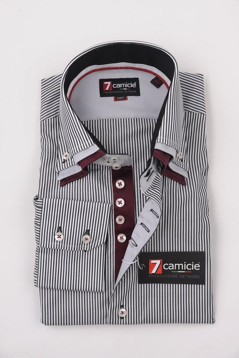 7-0049 Black White Stripe