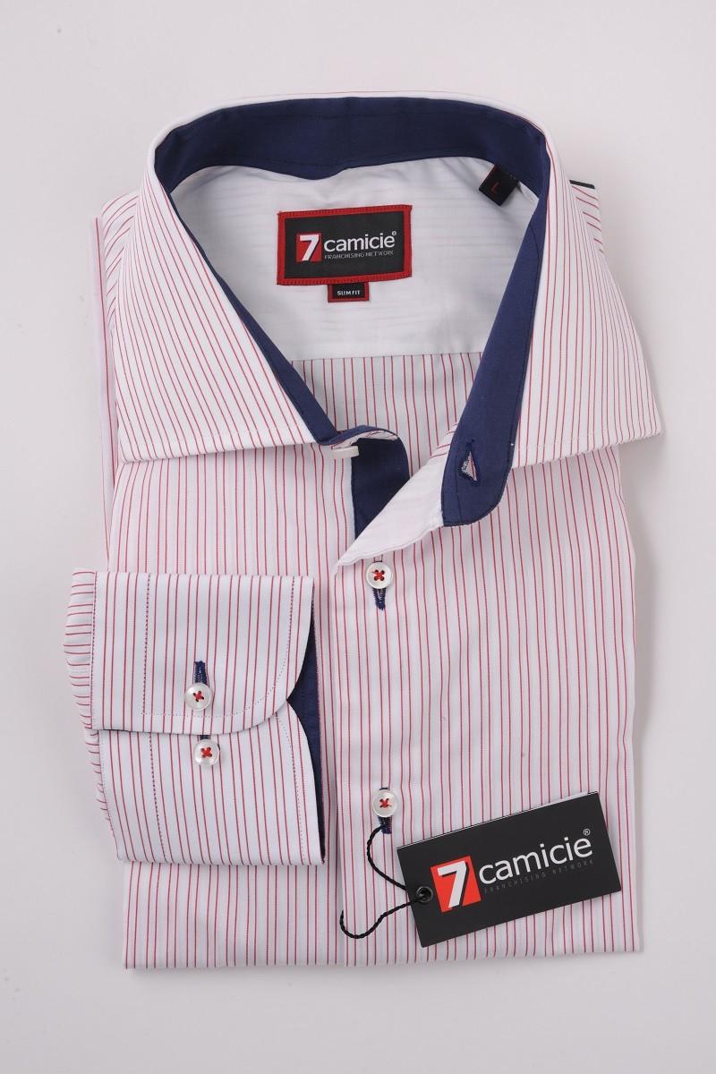 c2-0078 White Red Stripe