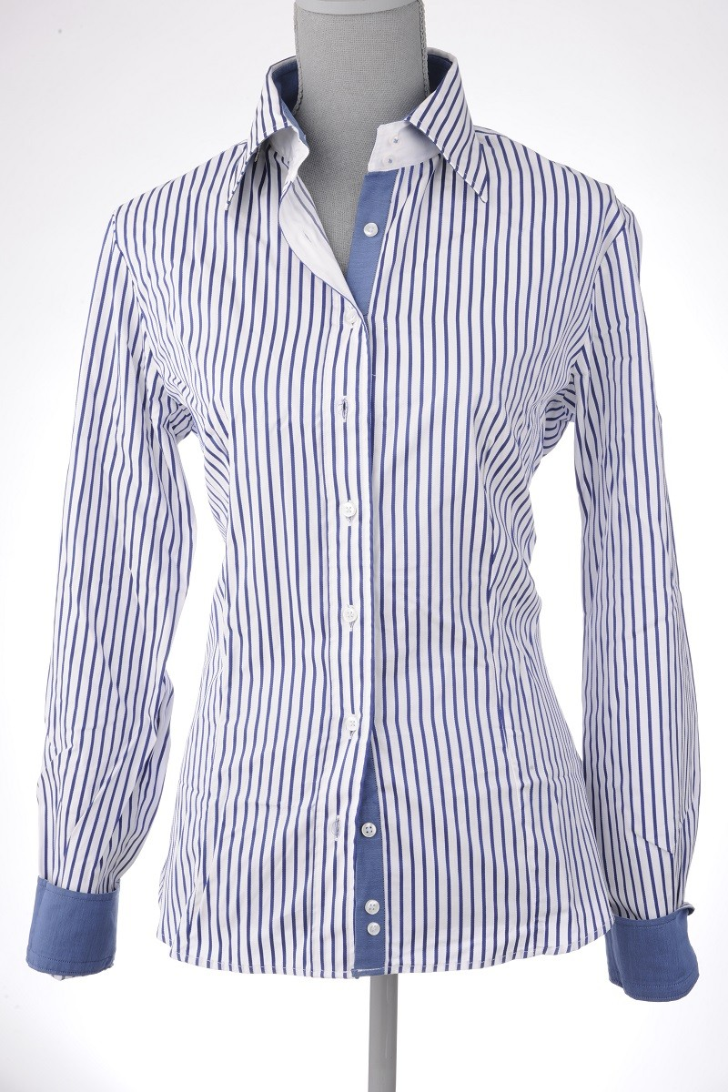 c4-0044 White Blue Stripe
