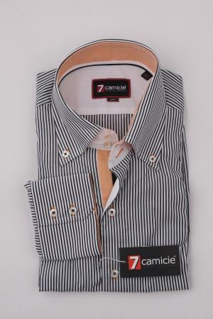 7-0046 Black White Stripe