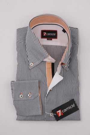 7-0121 Black White Stripe