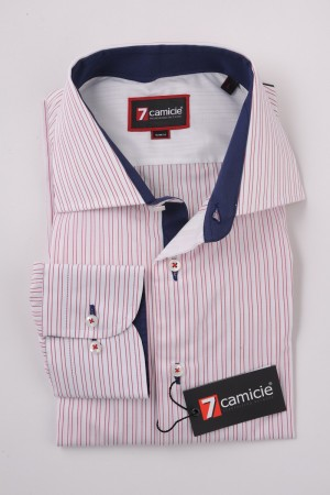 c2-0078 White Red Stripe